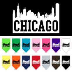 Chicago Skyline dog bandana