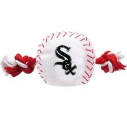 Chicago White Sox baseball plush ball and rope toy