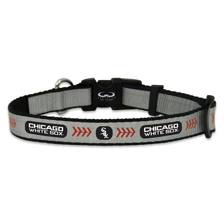 Chicago White Sox reflective dog collar