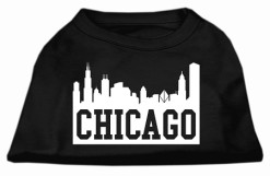 Chicago skyline sleeveless dog t-shirt black