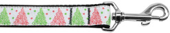 Christmas Tree Swirls dog leash nylon webbing
