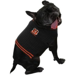 Cincinnati Bengals turtleneck NFL dog sweater on pet