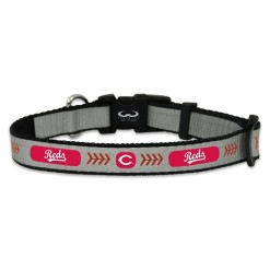 Cincinnati Reds reflective dog collar