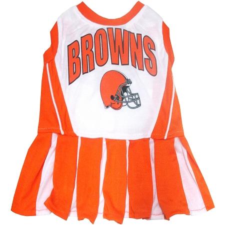 Cleveland Browns NFL dog cheerleader dress