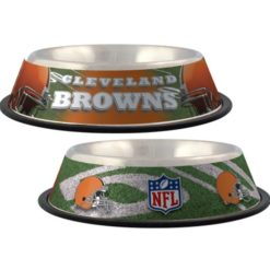 Cleveland Browns stainless NFL dog bowl