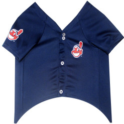 Cleveland Indians MLB dog jersey front