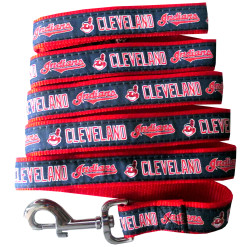 Cleveland Indians nylon dog leash