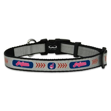 Cleveland Indians reflective dog collar
