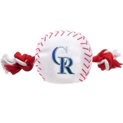 Colorado Rockies baseball plush ball and rope toy