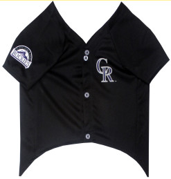 Colorado Rockies dog jersey front