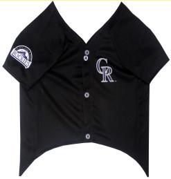 Colorado Rockies dog jersey front