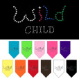 Colorful Wild Child dog rhinestone bandanas