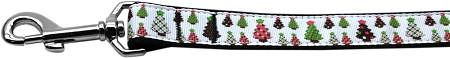 Colorfully Decorated Christmas Trees Dog Leash