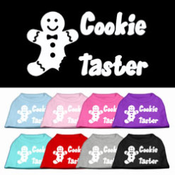 Cookie taster christmas sleeveless dog t-shirt multi colors