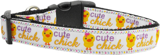 Cute Chick Colorful Adjustable Dog Collar big