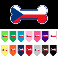Czech Republic flag bone bandana