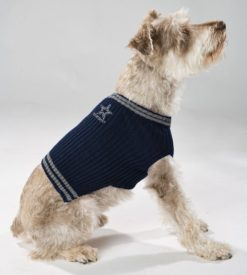 Dallas Cowboys turtleneck dog sweater on pet