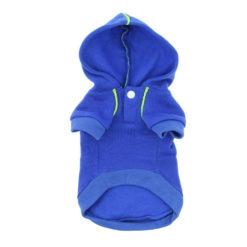 Dark Blue Sport Dog Hoodie front
