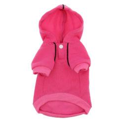 Dark Pink Sport Dog Hoodie front
