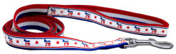 Democratic Party and stars nylon dog leash