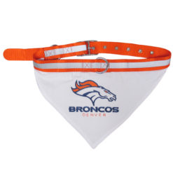 Denver Broncos Dog Collar and Bandana