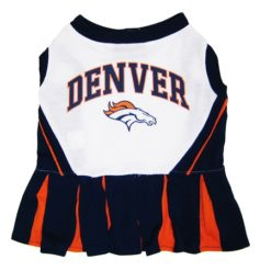 Denver Broncos NFL dog cheerleader dress