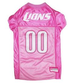 Detroit Lions Pink Dog Jersey