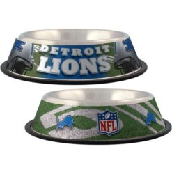 Detroit Lions Stainless Dog Bowl