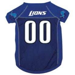 Detroit Lions dog jersey alternate style