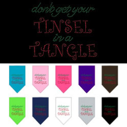 Don't Get Your Tinsel in a Tangle rhinestone dog bandanas