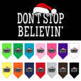 Don't Stop Believin' christmas dog bandana