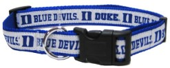 Duke University Blue Devils nylon dog collar