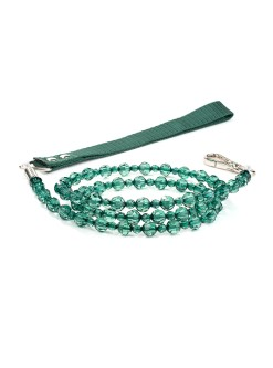 Emerald Beaded Dog Leash Fab