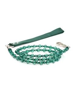 Emerald Beaded Dog Leash Fab