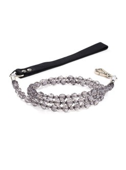 Fab Black Diamond Beaded Dog Leash