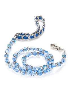 Fabuleash 5th Avenue Sapphire Beaded Leash