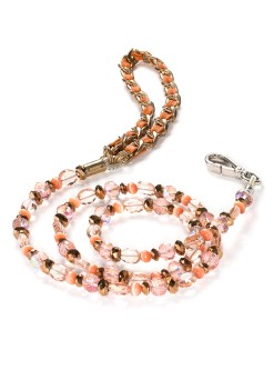 Fabuleash 5th Avenue Tangerine Beaded Leash