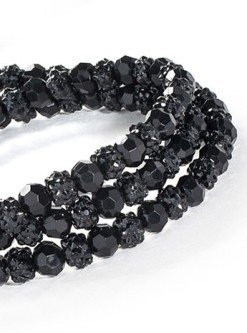 Fabuleash Black Beaded Leash for Dogs