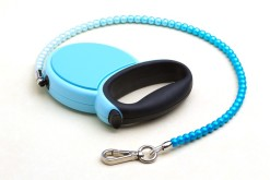 Fabuleash Blue Beaded Retractable Leash 3
