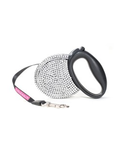 Fabuleash Crystal Rhinestones Retractable Leash