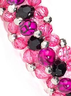 Fabuleash Pink Animal Beaded Dog Collar