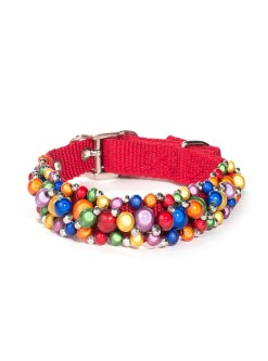 Fabuleash Rainbow Beaded Dog Collar