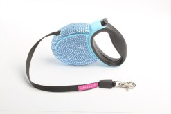 Fabuleash Sapphire Rhinestones Retractable Leash