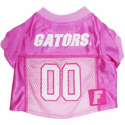 Florida Gators dog jersey pink