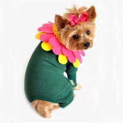Flower Dog Costume with Colorful Headpiece