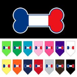 France dog bone flag bandana