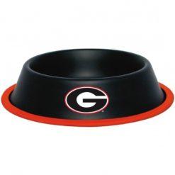 Georgia Bulldogs NCAA Stainless Black Dog Bowl