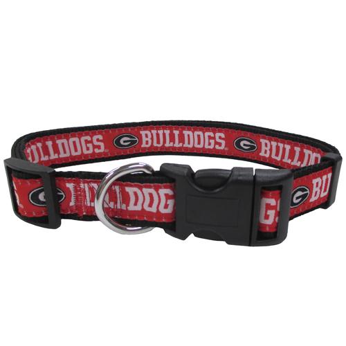 Georgia Bulldogs Nylon Dog Collar