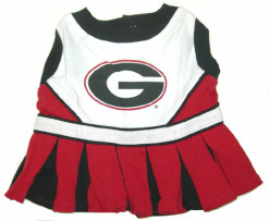Georgia Bulldogs dog cheerleader dress