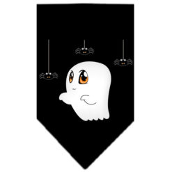 Ghost Spiders Dog Halloween Dog Bandana Black